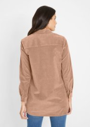Cord- Longbluse aus  Bio- Baumwolle, bpc bonprix collection