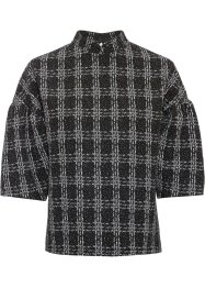 Shirt in Jacquard-Optik, BODYFLIRT