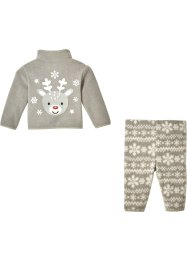 Baby Fleecejacke + Fleecehose (2-tlg. Set), bpc bonprix collection
