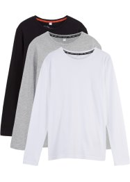 Jungen Langarmshirt (3er-Pack) Bio-Baumwolle, bpc bonprix collection