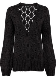 Strickjacke mit Ajour-Design, BODYFLIRT