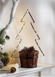Pflanztopf mit LED-Tannenbaum, bpc living bonprix collection