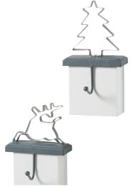 Haken 2er-Set Rentier+Tannenbaum, bpc living bonprix collection