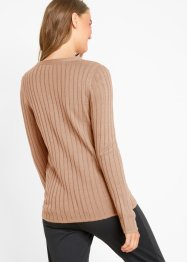 Strickjacke mit Rippstruktur, bpc bonprix collection