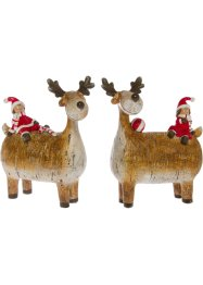 Deko-Rentier mit Nikolaus, 2er-Set, bpc living bonprix collection