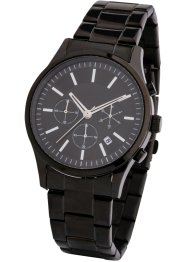 Herren-Chronograph mit Edelstahl Armband, bpc bonprix collection
