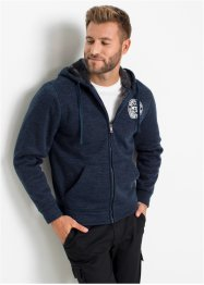 Kapuzen-Sweatjacke mit Teddyfutter, bpc bonprix collection