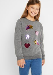 Mädchen Sweatshirt mit Wendepailletten, bpc bonprix collection