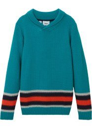 Jungen Pullover mit Schalkragen, bpc bonprix collection