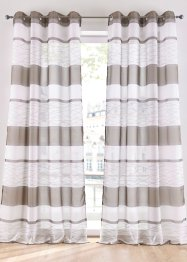 Transparente Gardine mit Querstreifen Druck (1er Pack), bpc living bonprix collection