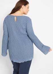 Plisseebluse mit Tupfen, bpc bonprix collection