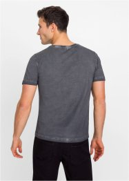 T-Shirt in ausgewaschener Optik, Slim Fit