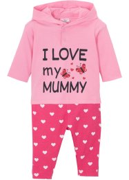 Baby Kapuzensweatshirt + Leggings (2-tlg.Set) Bio Baumwolle, bpc bonprix collection