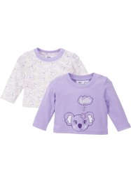 Baby Langarmshirt (2er Pack) Bio-Baumwolle, bpc bonprix collection
