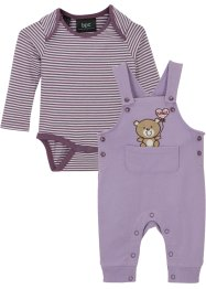Baby Langarmbody + Sweatlatzhose (2-tlg.Set) Bio Baumwolle, bpc bonprix collection