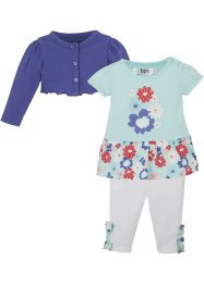 Baby Bolero + Kleid + Leggings​ (3tgl. Set) Bio Baumwolle, bpc bonprix collection