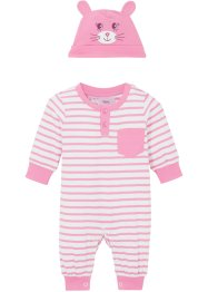 Baby Langarm Overall (2-tgl. Set) Bio Baumwolle, bpc bonprix collection