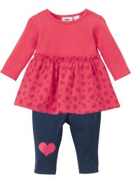 Baby Sweatkleid und Leggings (2-tlg.Set) Bio Baumwolle, bpc bonprix collection