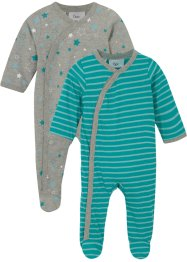 Baby Strampler (2er Pack) Bio Baumwolle, bpc bonprix collection