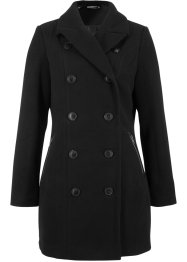 Wollimitat-Longjacke in Trenchcoat-Optik, bpc bonprix collection