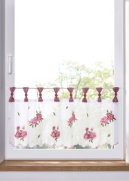 Scheibengardine mit Blumenstickerei, bpc living bonprix collection