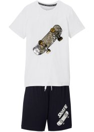 Jungen Shirt mit Wendepaillette und Hose (2-tlg.Set), bpc bonprix collection