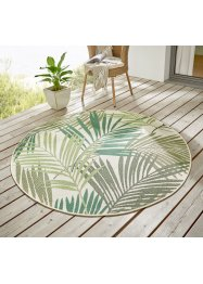 Runder In- und Outdoor Teppich mit Palmblättern, bpc living bonprix collection