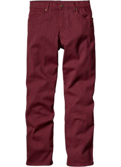 5-Pocket Stretchhose, Slim Fit Straight, bpc bonprix collection, bordeaux