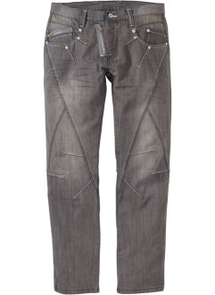 Jeans STRAIGHT, RAINBOW, medium grey denim used