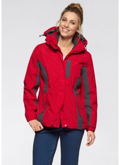 3in1-Funktions-Outdoorjacke, bpc bonprix collection, rot/anthrazit
