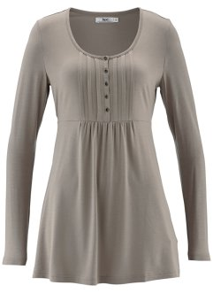 Langarm-Shirt, bpc bonprix collection, taupe