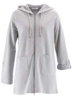 Langärmlige Sweat-Longjacke, bpc bonprix collection