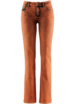 Stretch-Jeans, John Baner JEANSWEAR, terracotta