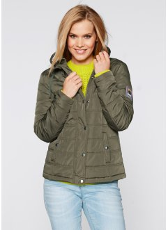 Steppjacke mit Kapuze, bpc bonprix collection, dunkeloliv