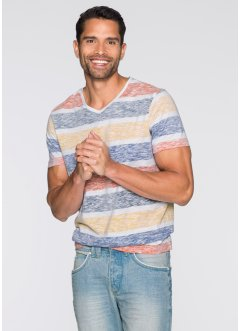 T-Shirt Slim Fit, RAINBOW, weiß/bunt gestreift