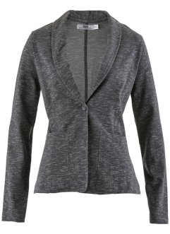 Sweatblazer mit langen Ärmeln, bpc bonprix collection, grau meliert