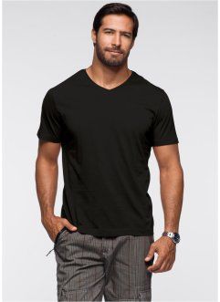 Herren T-Shirt mit V-Ausschnitt (2er-Pack), bpc bonprix collection