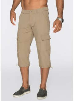3/4-Freizeithose Loose Fit, bpc bonprix collection, beige