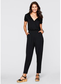 Knöchellanger Jumpsuit, bpc bonprix collection, schwarz