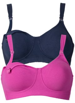 Still-BH (2er-Pack), bpc bonprix collection, dunkelblau+fuchsia