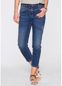 7/8-Girlfriend-Stretchjeans, bpc bonprix collection, blue stone used