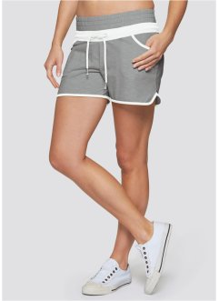 Sport-Shorts, bpc bonprix collection, hellgrau meliert