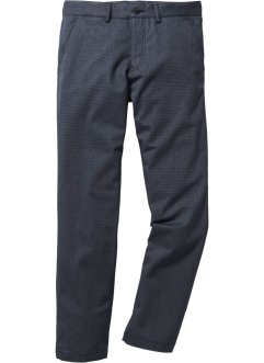 Chino-Hose in Wolloptik Regular Fit, bpc selection, dunkelblau meliert