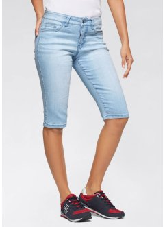 Bermuda jeans com stretch
