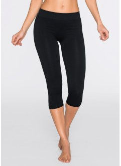 Capri Leggings Seamless, bpc bonprix collection, schwarz