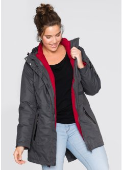 3-in-1-Funktions-Outdoorjacke, bpc bonprix collection, ahornrot