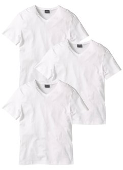 T-Shirt mit V-Ausschnitt 3er Pack, bpc bonprix collection