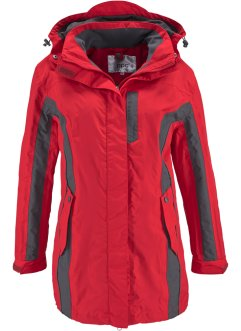 3-in-1-Outdoorjacke, bpc bonprix collection, rot/schiefergrau