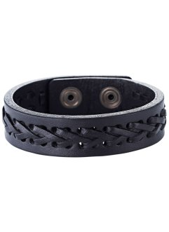 "Lederarmband ""Stockholm"", bpc bonprix collection, schwarz"