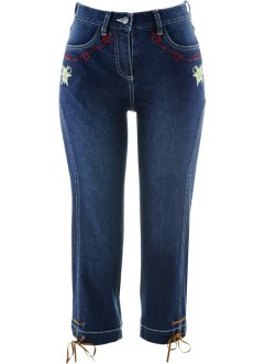 Trachtenjeans in 3/4-Länge, bpc bonprix collection, darkblue stone